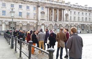 Entrepreneurs queuing for StartUp 2015 @ Somerset House, London