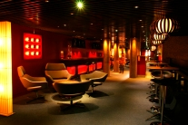 The Barbican Centre Members Red Room by Canning+Sheridan